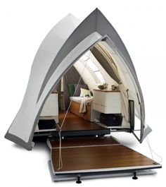 The Opera, a contemporary design trailer tent.