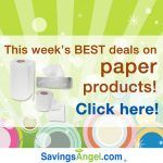 Stock up this week on the best paper product deals:  Sept 25  Oct 1