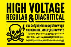 High Voltage Font - out of context, this can be quite a friendly looking font
