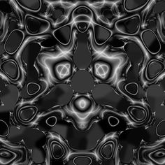 #digital #art #design #abstract #algorithm #fractal #blackandwhite #monochrome #lyapunov #smooth #curves #glow #flow #three #symmetry #voronoi