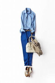 コーディネート詳細(カラーパンツをトラッドに着る)| Kyoko Kikuchi's Closet|菊池京子のクローゼット