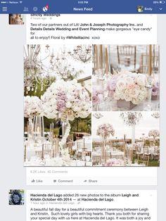 Lavender pale peach ivory wedding floral