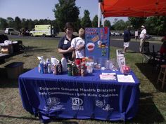 Delaware Health District set up a fantastic display table at recreation Unlimited this year, Jackie always does a great job with the kids!