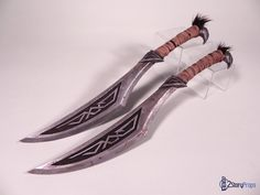 Skyrim Nordic Dagger by torsoboyprops knife runed duel pair Fantasy Blade, Fantasy Sword, Fantasy Weapons, Ninja Weapons, Cosplay Weapons, Swords And Daggers, Knives And Swords, Elf Rogue, Engraved Pocket Knives