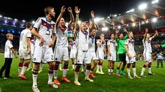 Players of Germany celebrate