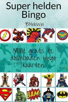 Super helden bingo Met gratis te downloaden bingo kaarten BMelloW.nl