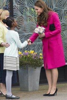 The Duchess of Cambridge shook hands with 10-year-old Mia, the niece of the late Stephen Lawrence