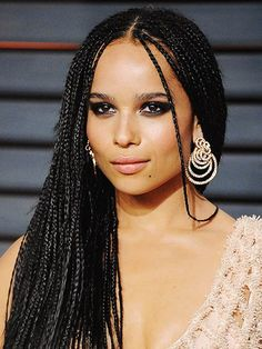 Zoe Kravitz box braids