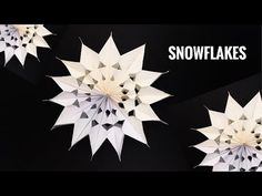 Snowflakes decoration for Christmas - DIY Tutorial by Paper Folds - 958 Diy Crafts Step By Step, Diy Crafts To Do, Diy Crafts Videos, Diy Craft Projects, Paper Crafts, Origami And Kirigami, Origami Easy, Headboard Cover, Snowflake Decorations
