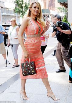 Make like Blake in an embroidered dress by Jonathan Simkhai. Click 'Visit' to buy now. #DailyMail