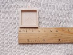 1p unfinished square-shaped pendant base with by MagicWoodenJewel