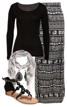 Maxi Skirt Outfits 007