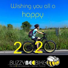 Happy New Year!🐝🚴♀️ 🐝🚴♀️🚴🏼♂️ #buzzybeebike #chiangmai #thailand #ebike #ebiking #fatbike #fatbiking #cyclingtour #cycling #electricbicycle #thailandtravel #lovethailand #amazingthailand #happynewyear