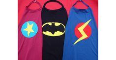 How to make superhero capes. A super easy way to make a superhero costume.