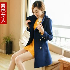 Pea Coat Female | long pea coats for women Fence 2013 women's woolen overcoat female ...