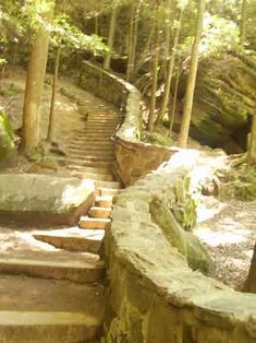 Husband and I climbed the whole stairs ..only way up.....Hocking Hills State Park