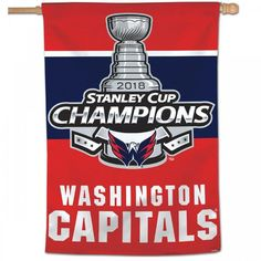 Washington Capitals NHL 2018 Stanley Cup Champions Flag 3ft x 5ft 100%  Polyester Patio 0f1c63c22