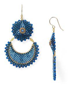 miguel ases | Miguel Ases Blue Jade Drop Earrings