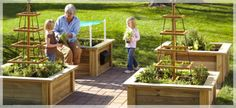 our garden. Wood & rope trellis, bench seating, mailbox storage, screen for shade.