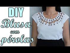 29934bf03 Passo a Passo  Customize blusas com Pérolas ABS Shine Beads® + E6000 DIY  Feat. Suellen Redesign - YouTube