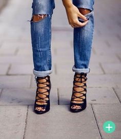 Check out this selection of the BEST lace up sandals! RAD.