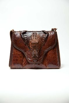 For my dark side! I love this thing!Vintage 1940's Alligator Bag  Alligator by CircusFreakVintage, $105.00
