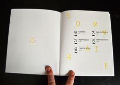 Rapport de stage – Internship report on Behance … - Beading Magazine Layout Design, Book Design Layout, Print Layout, Editorial Layout, Editorial Design, Logo Typo, Cv Original, Pull Quotes, Booklet Design