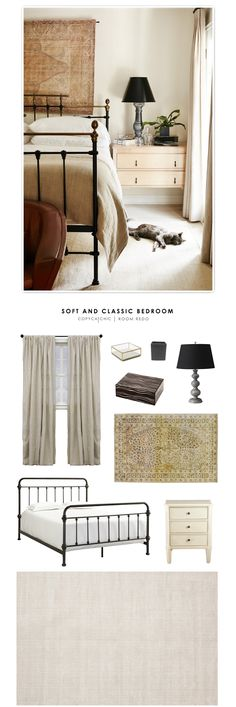 Katherine Power's soft and classic bedroom featured on My Domain and recreated for $1879 by @audreycdyer