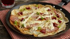 Savoury #pancakes with ham and cheese