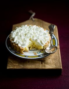 Passionfruit Tapioca and lemon cream Tart - with passionfruit curd filling studded with small rounds of soft tapioca pearls, and mascarpone whipped cream, flavored with fresh-squeezed lemon juice and zest for an overall brightness to the dessert. It makes you feel like you're eating pure rays sunshine!