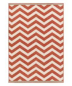 Love the color! This would be fabulous on my porch. Cherry Chevron Indoor/Outdoor Alfresco Rug on zulily today!