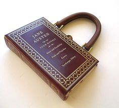 While it is downright sacrilegious to ruin a Jane Austen novel for fashion, I still LOVE THIS BAG!!! Jane Austen Four Novels Book Purse Handbag by spoonfulofchocolate, $84.00