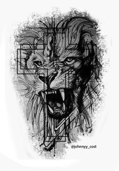 Lion, Darth Vader, Fictional Characters, Gray, Black, Tatuajes, Leo, Lions, Fantasy Characters