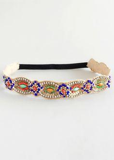 Royal Jasmine Beaded Headband