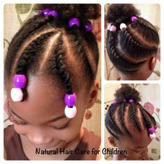 Double Strand Flat Twist, Beads, & Puff