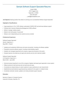 sample operations support specialist resume resame pinterest