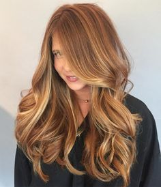 Long Caramel Hair With Highlights