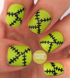 Use lime green polish and a black nail-art pen or a small nail-art brush to create this Frankenstein's monster-inspired Halloween design. #nails #halloween