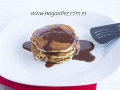 Receta Postre : Pancakes con sirope casero de nutella por Hogardiez