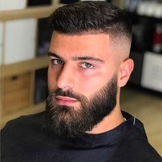 Medium Beard Styles, Faded Beard Styles, Beard Styles For Men, Hair And Beard Styles, Cool Hairstyles For Men, Haircuts For Men, Beard Haircut, Goatee Beard, Short Hair With Beard