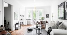 my scandinavian home: A soothing grey Swedish apartment with a lovely balcony