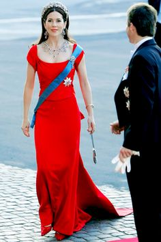 "danishroyalty: "" ""Mary Donaldson arrives for her pre wedding concert, wearing…"