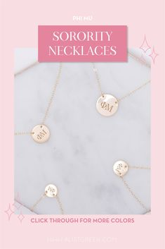 Sorority circle necklaces are the easiest gift for any celebration: Recruitment, Bid Day, Back to School & Big/Little. Spoil your new sorority girl with our simple and dainty Greek letter circle necklace! Phi Mu Gifts   Phi Mu Bid Day   Phi Mu Necklace   Phi Mu Jewelry   Sorority Bid Day   Sorority Recruitment   Sorority Jewelry Gifts   Sorority College Gift   Sorority New Member Gift Ideas   Dainty Jewelry   Simple Gold Necklace #SororityGifts #SororityJewelry Gold Necklace Simple, Circle Necklace, Simple Jewelry, Dainty Jewelry, Jewelry Gifts, Sorority Gifts, Sorority Recruitment, Sorority Bid Day, College Sorority