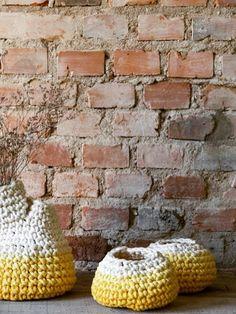 vaso calor uma boca feito em crochê