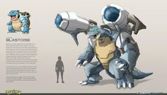 Pokemon Characters Get a Badass Metal-Armored Hybrid Upgrade in Fan Art Pokemon Fusion Art, Pokemon Fan Art, Mega Pokemon, Pokemon Blastoise, Dungeons And Dragons, Pokemon Legal, Robot Concept Art, Pokemon Pictures, Disney Fan Art