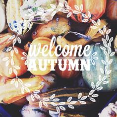 Welcome Autumn! I count the months till October and it's finally almost here!