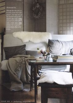 a cozy place - by pia jane bijkerk Cozy Living Rooms, My Living Room, Home And Living, Living Spaces, Dining Rooms, Decoration Gris, Cozy Couch, Grey Room, Awesome Bedrooms