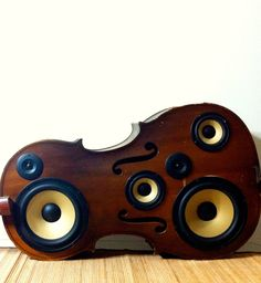 Cello Speaker Box.  via Etsy.