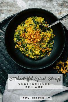 Süßkartoffel-Spinat-Stampf