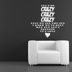 One Direction Wall Sticker Live while Were Young Wall Art